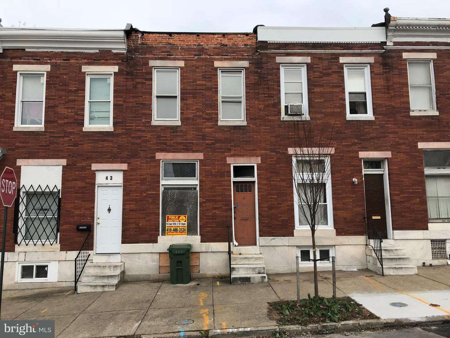 Single Family for Sale at 41 Catherine St N Baltimore, Maryland 21223 United States