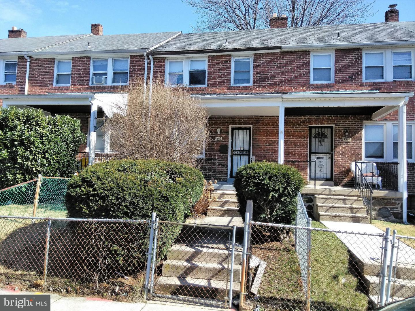 Single Family for Sale at 3309 Royce Ave Baltimore, Maryland 21215 United States