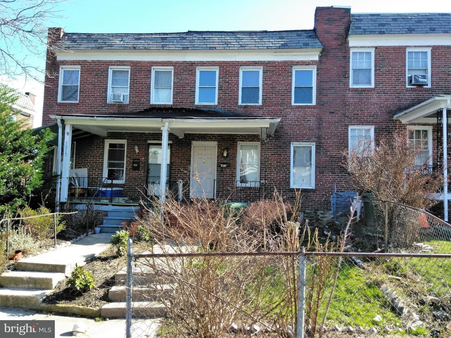 Single Family for Sale at 3019 Oakford Ave Baltimore, Maryland 21215 United States