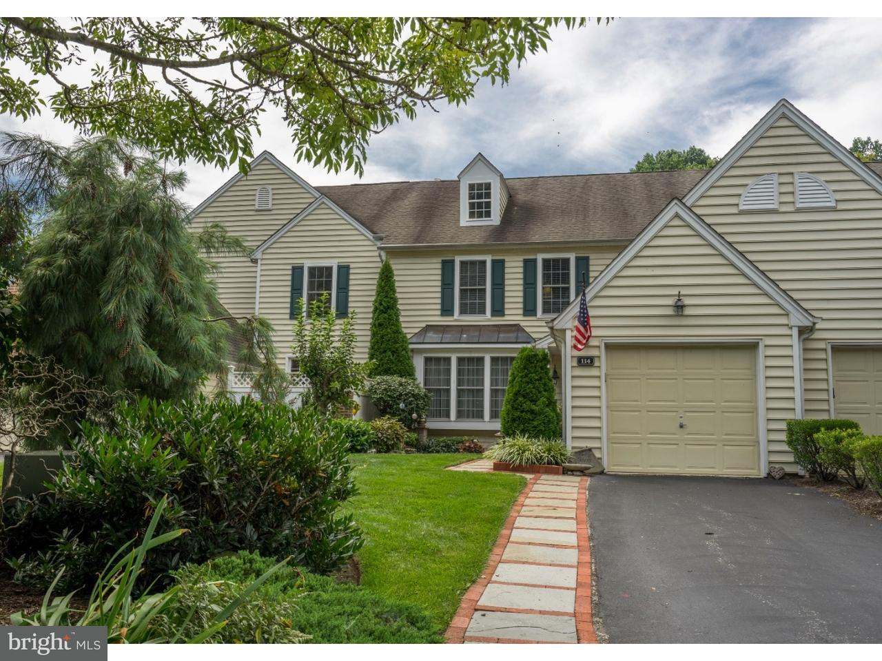 Townhouse for Sale at 114 DUNDEE MILLS Lane Rose Valley, Pennsylvania 19086 United States