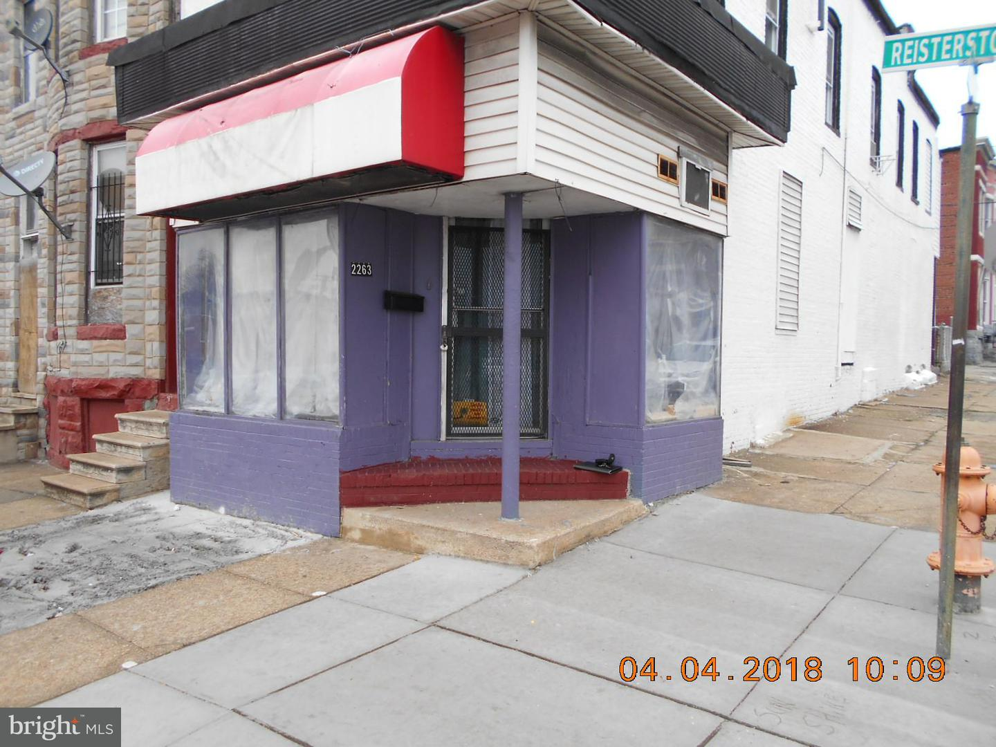 Single Family for Sale at 2263 Reisterstown Rd Baltimore, Maryland 21217 United States