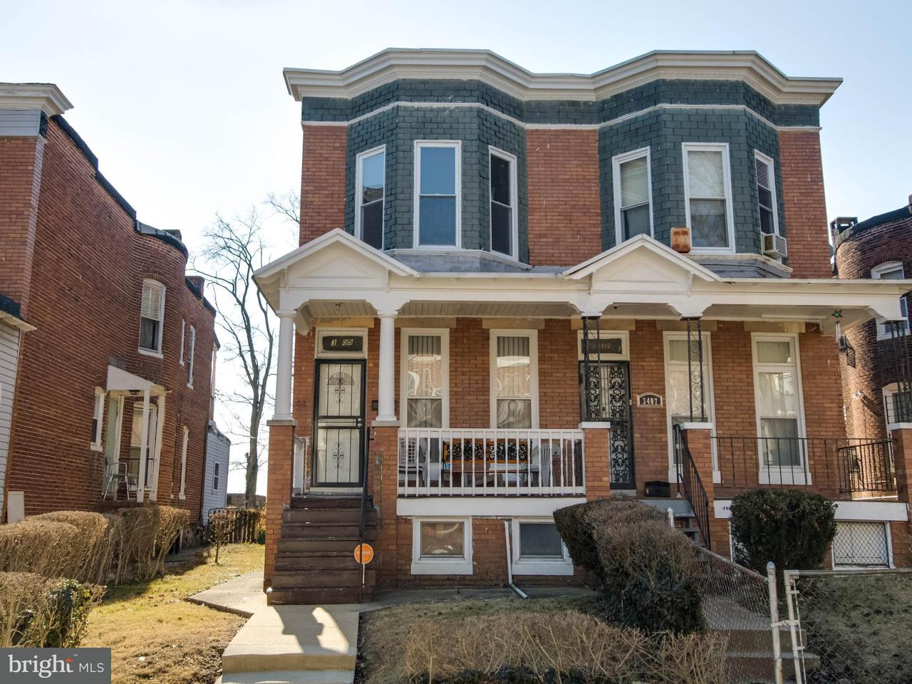 Single Family for Sale at 3405 Piedmont Ave Baltimore, Maryland 21216 United States