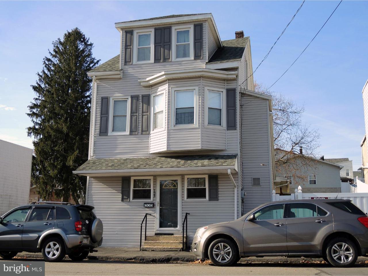 Частный односемейный дом для того Продажа на 138 N BALLIET Street Frackville, Пенсильвания 17931 Соединенные Штаты