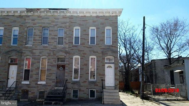 Single Family for Sale at 2023 Walbrook Ave Baltimore, Maryland 21217 United States