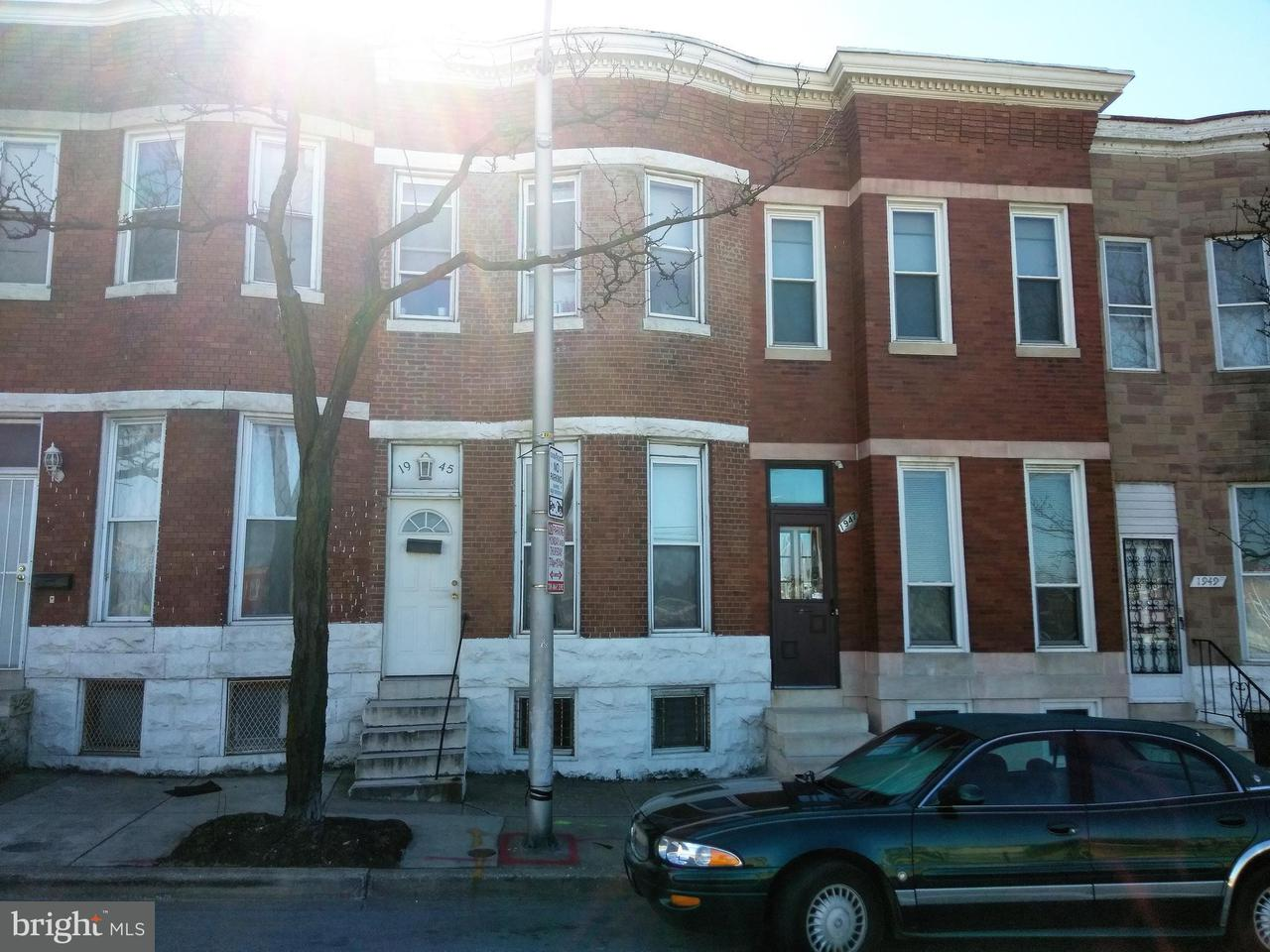 Single Family for Sale at 1945 Mulberry St Baltimore, Maryland 21223 United States