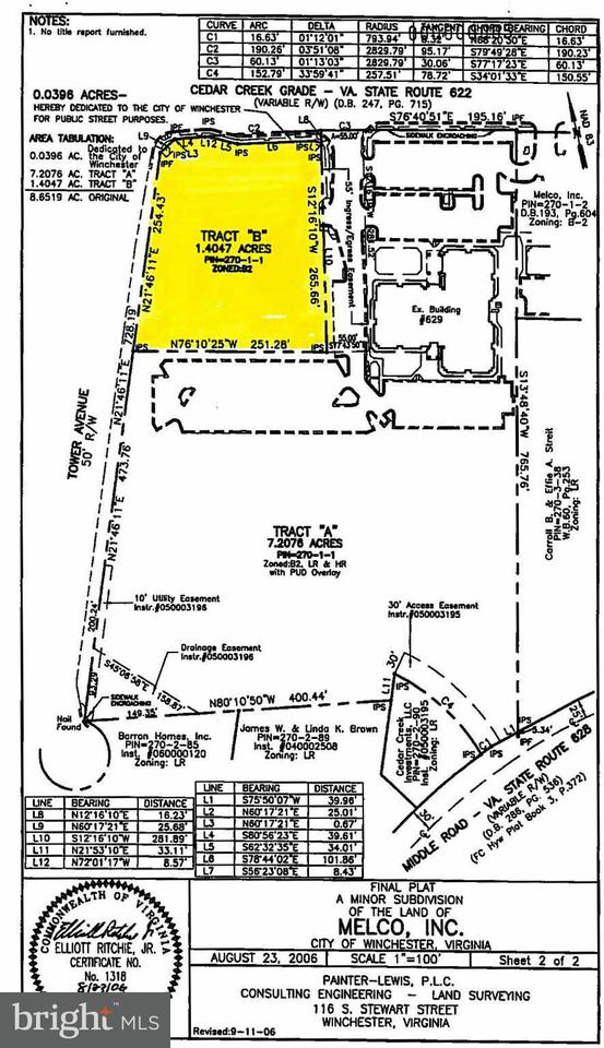 Land for Sale at 633 Cedar Creek Grade Winchester, Virginia 22601 United States