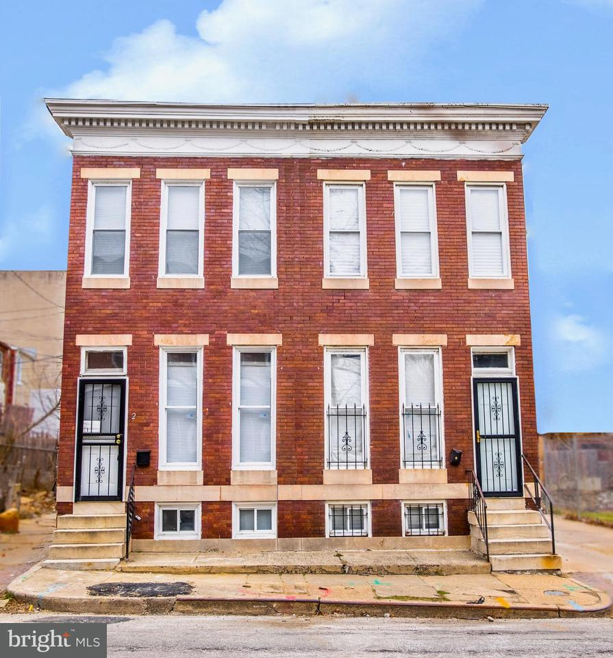 Single Family for Sale at 2517 Druid Hill Ave Baltimore, Maryland 21217 United States