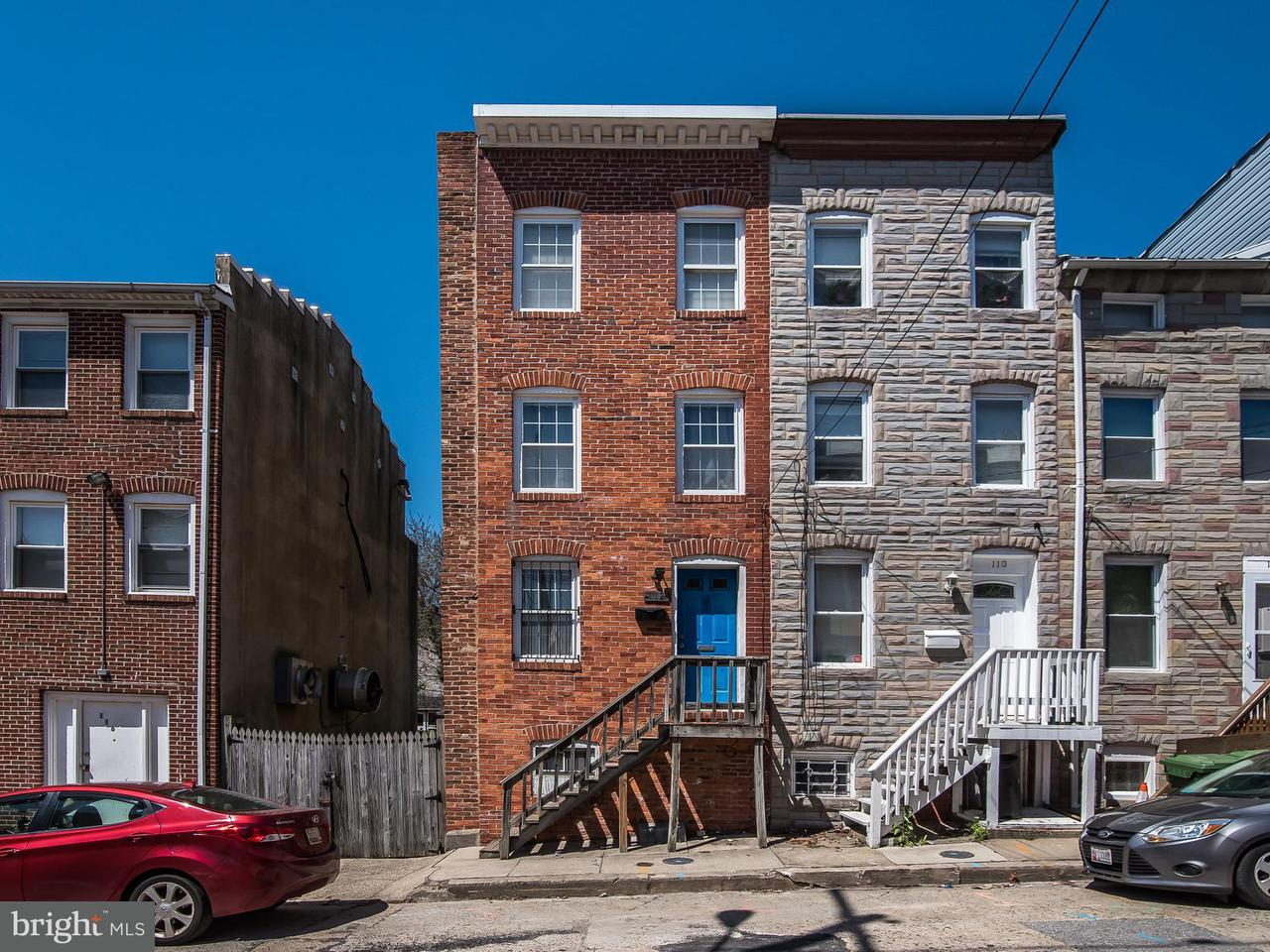 Single Family for Sale at 112 Callender St Baltimore, Maryland 21201 United States