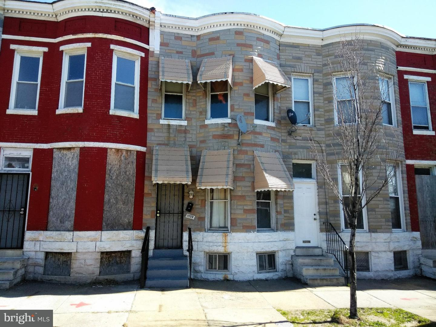 Single Family for Sale at 1119 Monroe St Baltimore, Maryland 21217 United States