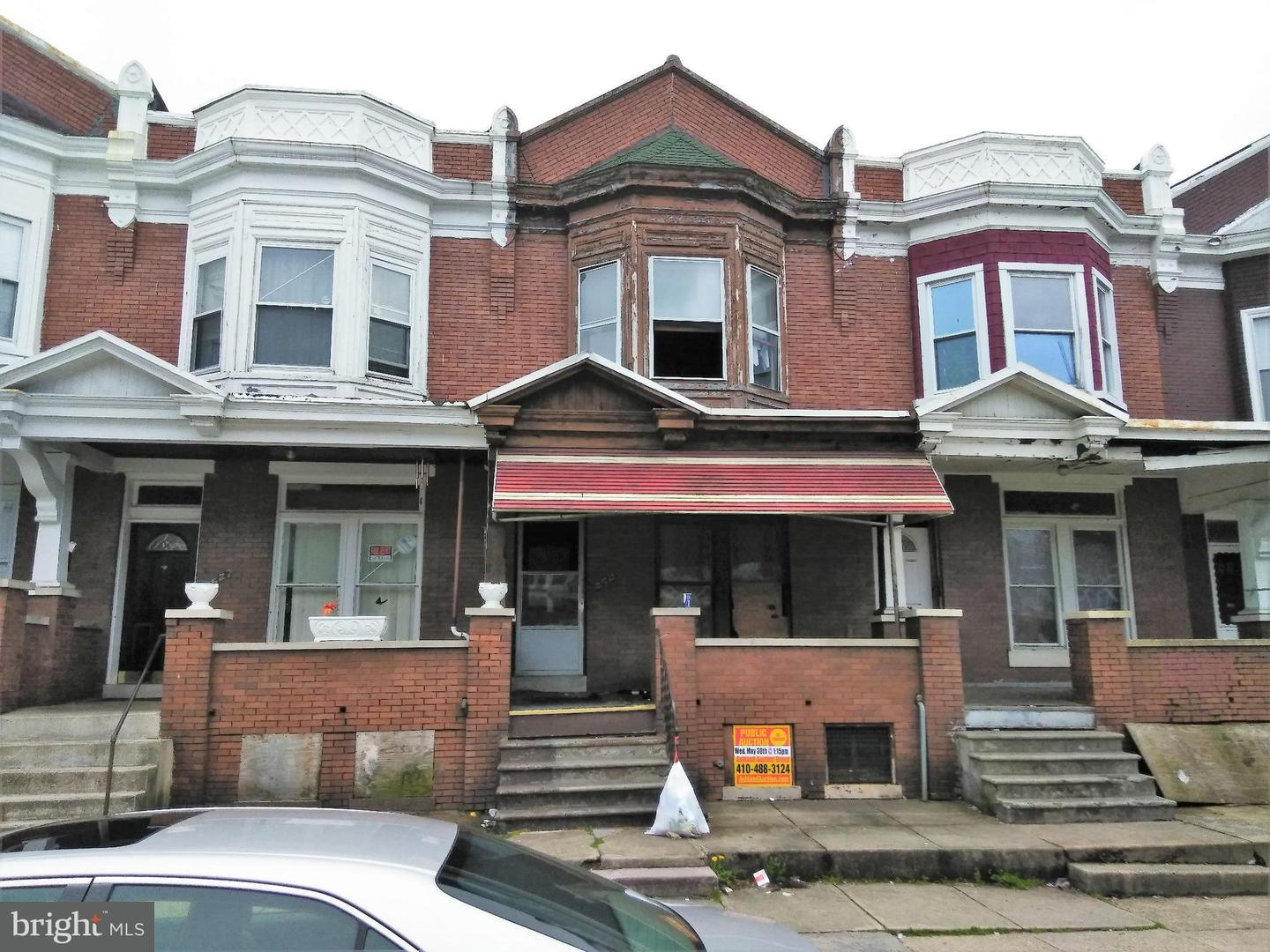Single Family for Sale at 2529 Edmondson Ave Baltimore, Maryland 21223 United States