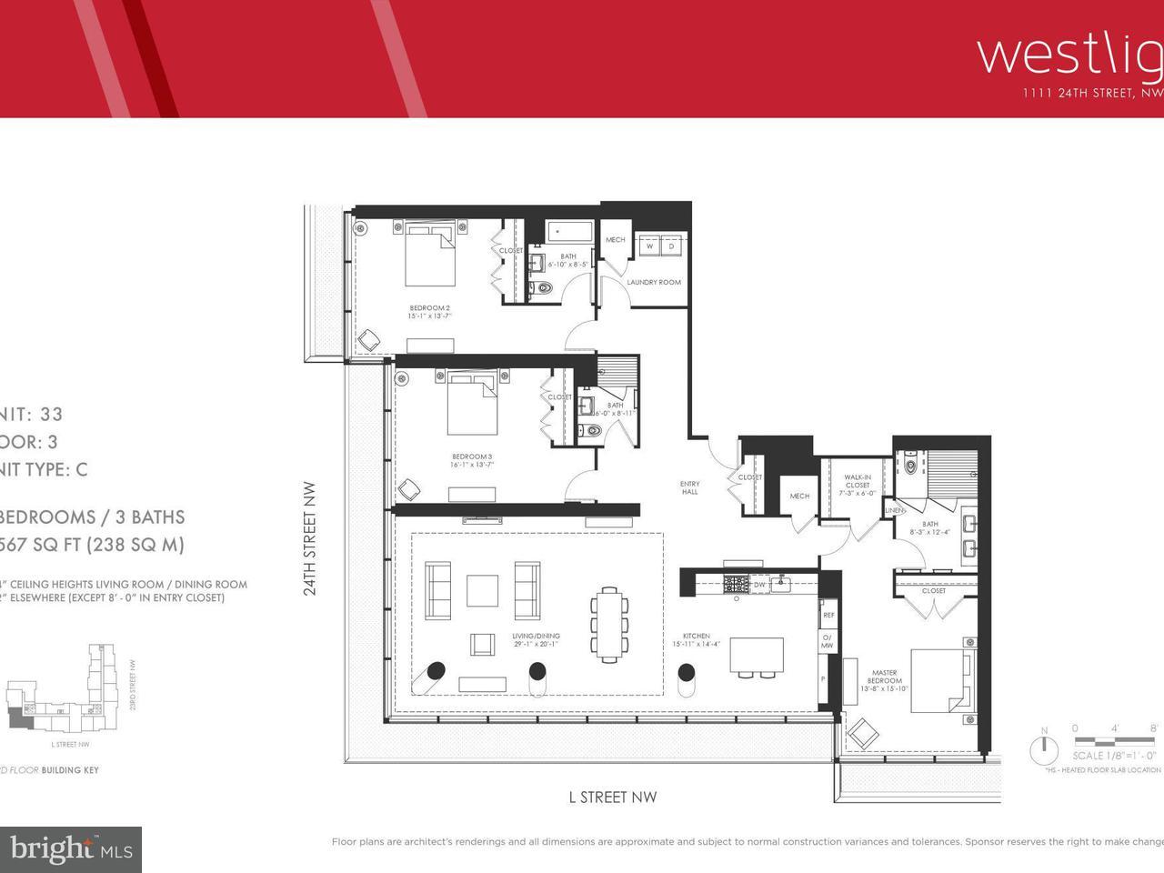 Condominio por un Venta en 1111 24th St Nw #3-C 1111 24th St Nw #3-C Washington, Distrito De Columbia 20037 Estados Unidos