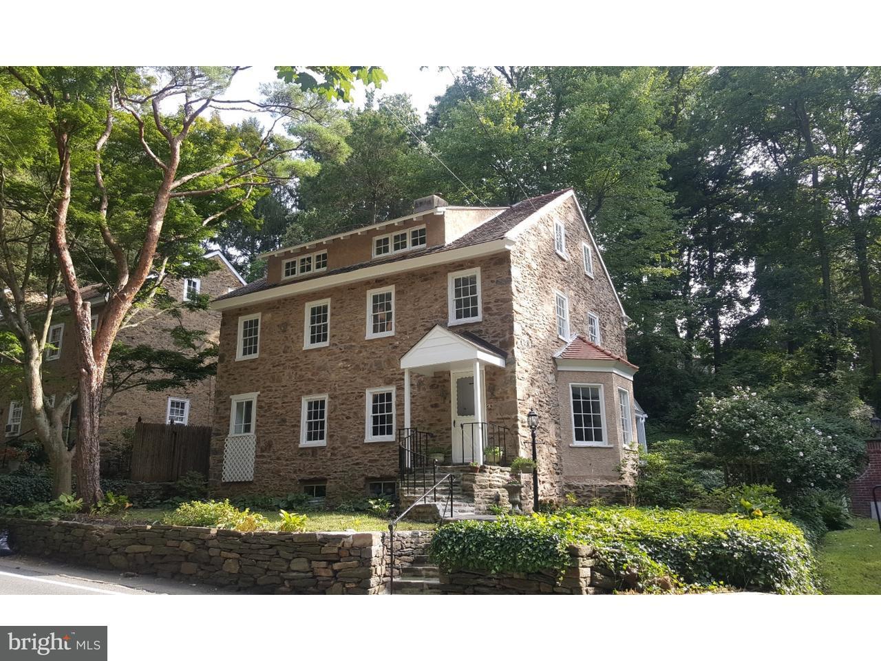 Частный односемейный дом для того Продажа на 69 W ROSE VALLEY Road Rose Valley, Пенсильвания 19086 Соединенные Штаты