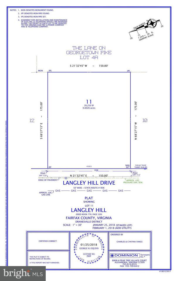 Land for Sale at 1015 Langley Hill Dr McLean, Virginia 22101 United States
