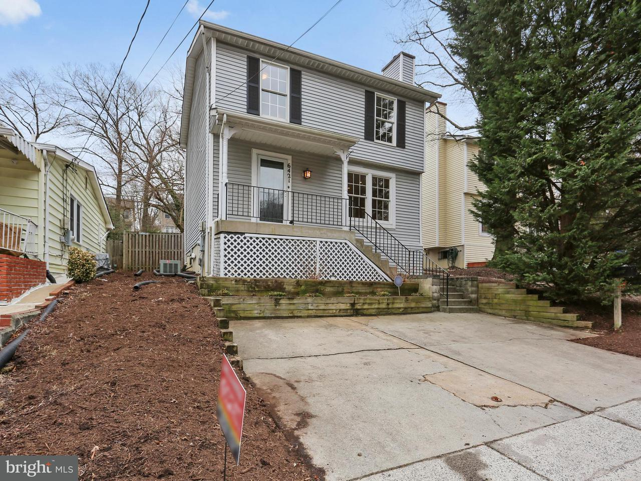 独户住宅 为 销售 在 6421 4th Avenue 6421 4th Avenue Takoma Park, 马里兰州 20912 美国