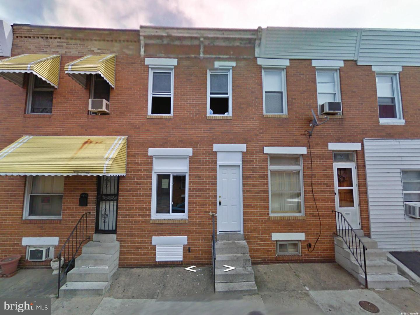 Single Family for Sale at 905 Streeper St Baltimore, Maryland 21205 United States