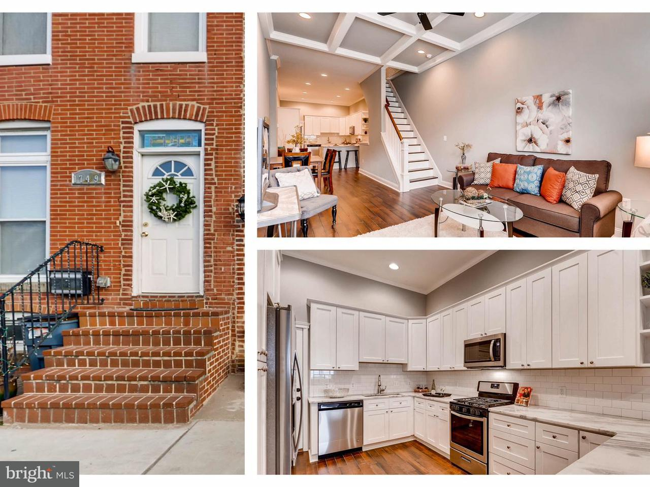 Single Family for Sale at 1751 S Hanover St Baltimore, Maryland 21230 United States