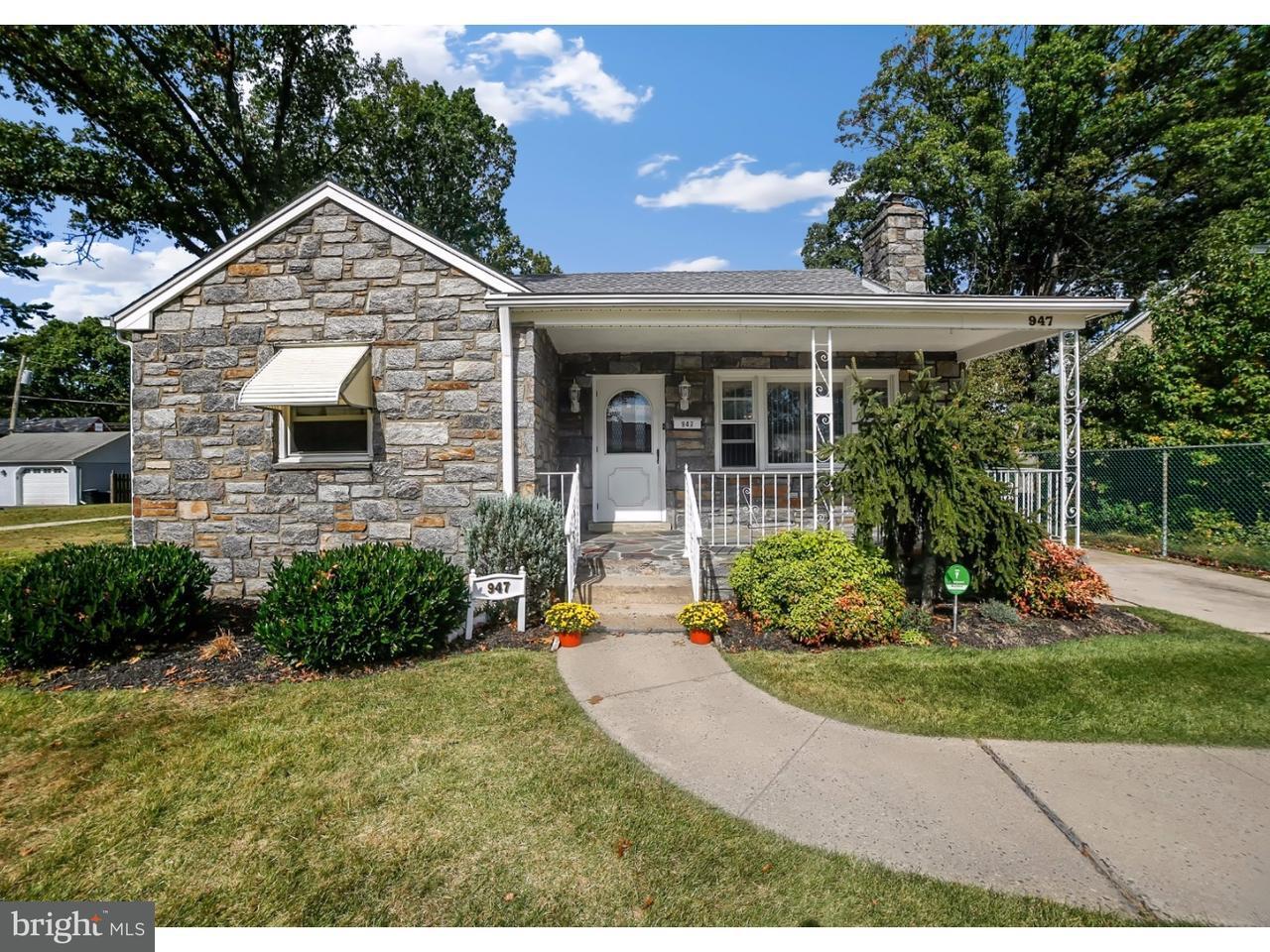 Частный односемейный дом для того Продажа на 947 KELLY Avenue Milmont Park, Пенсильвания 19094 Соединенные Штаты