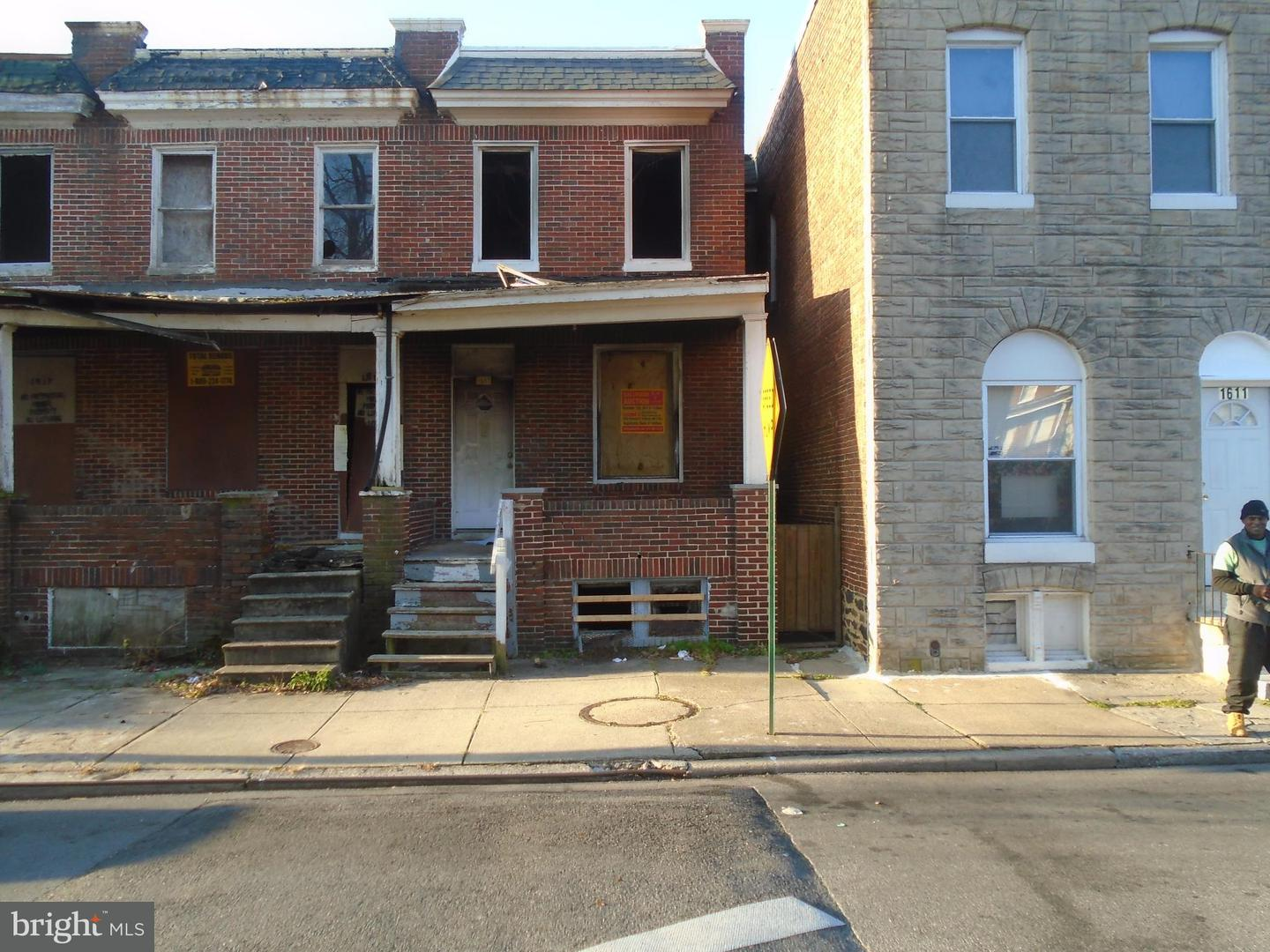 Single Family for Sale at 1613 Abbotston St Baltimore, Maryland 21218 United States