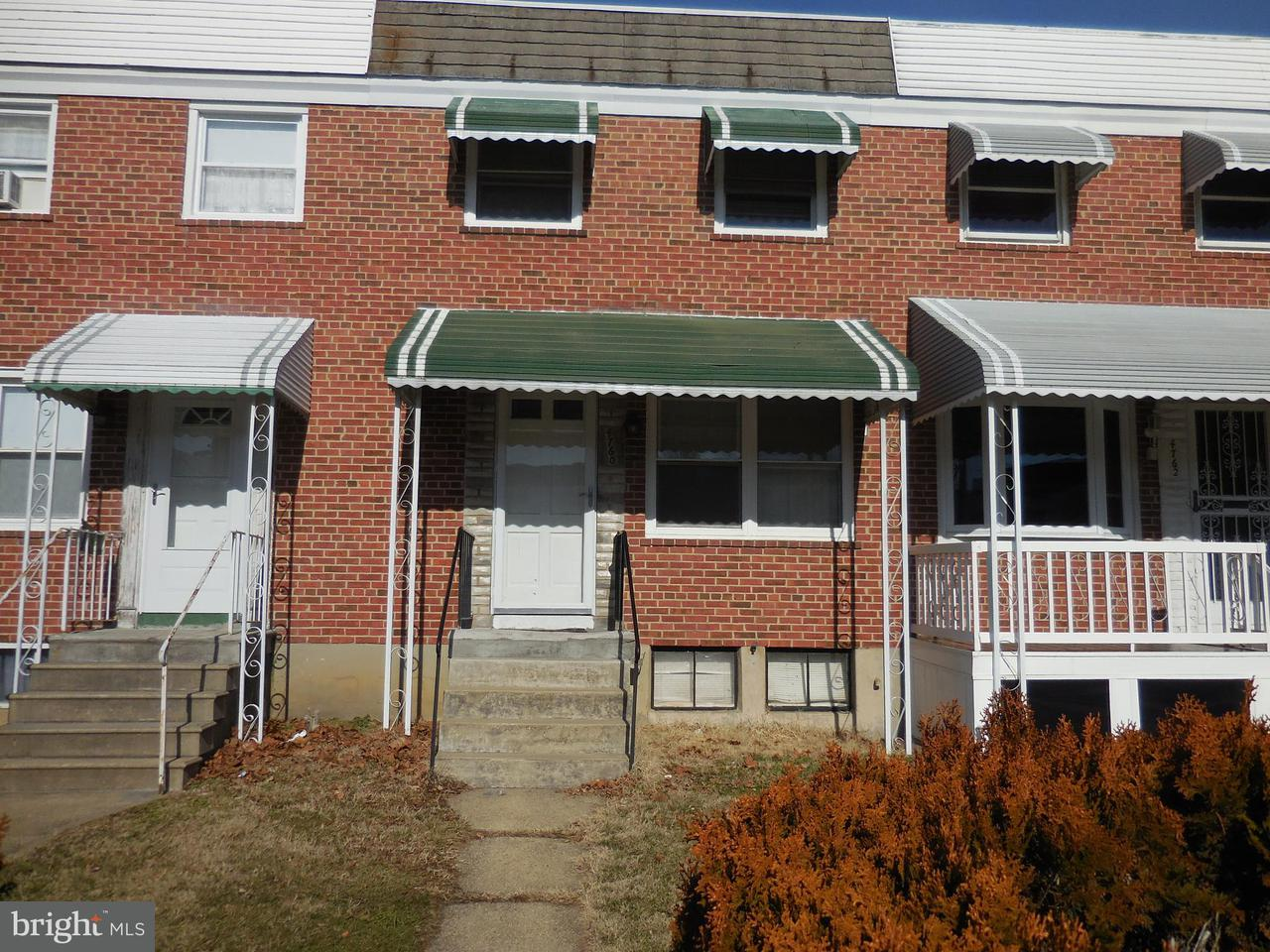 Single Family for Sale at 4760 Shamrock Ave Baltimore, Maryland 21206 United States