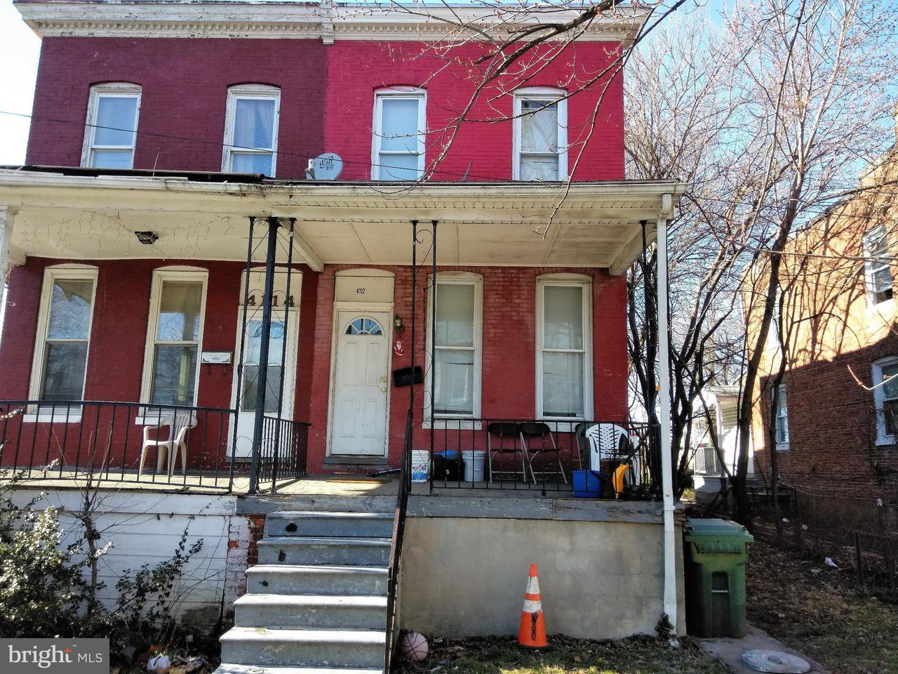 Single Family for Sale at 4112 Newton Ave Baltimore, Maryland 21215 United States