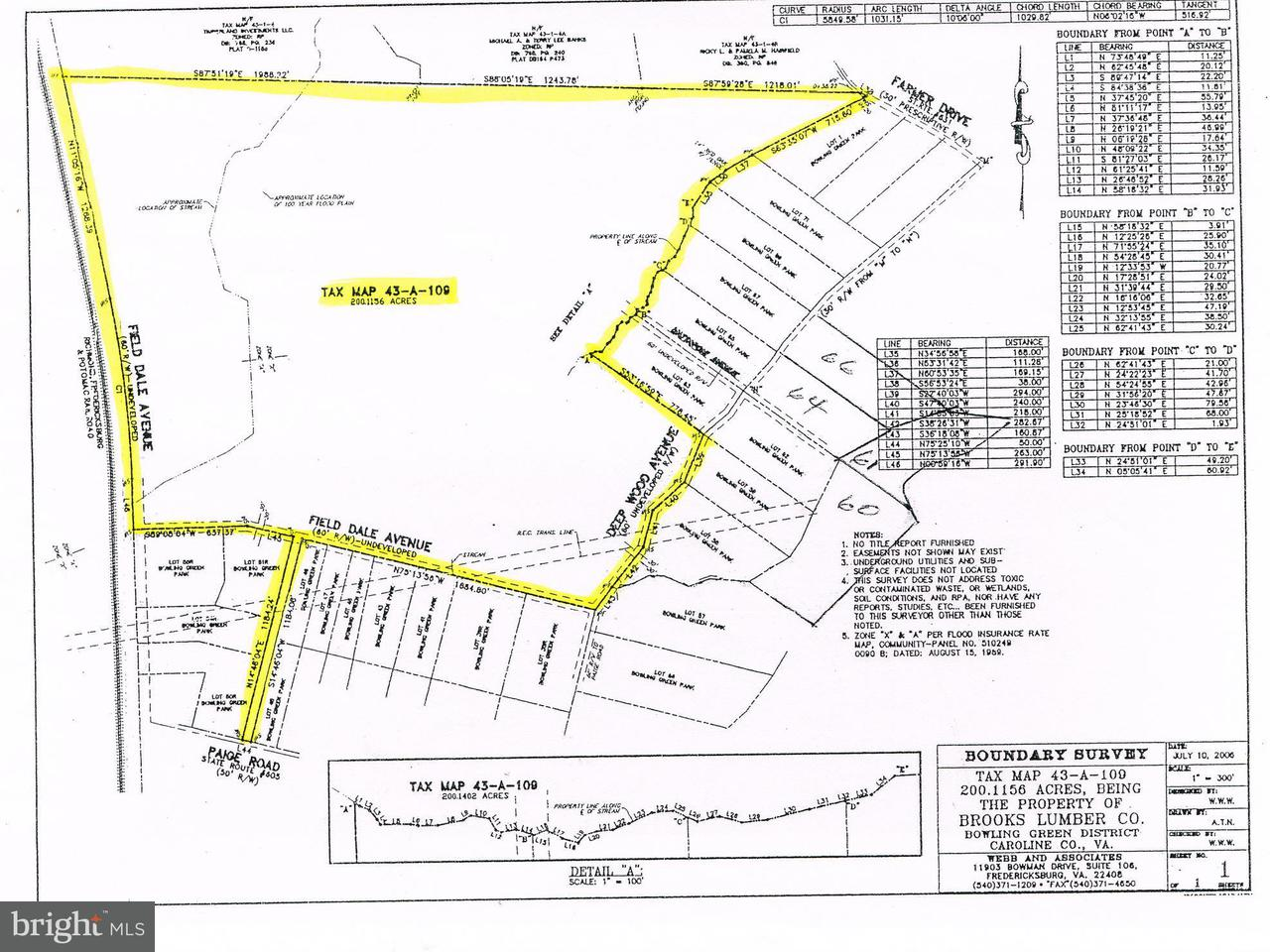Land for Sale at Paige Road Paige Road Woodford, Virginia 22580 United States