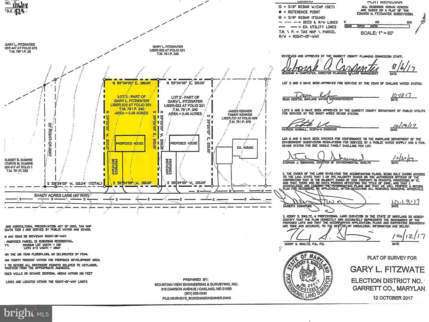 Land for Sale at 3 Shady Acres Ln Mountain Lake Park, Maryland 21550 United States
