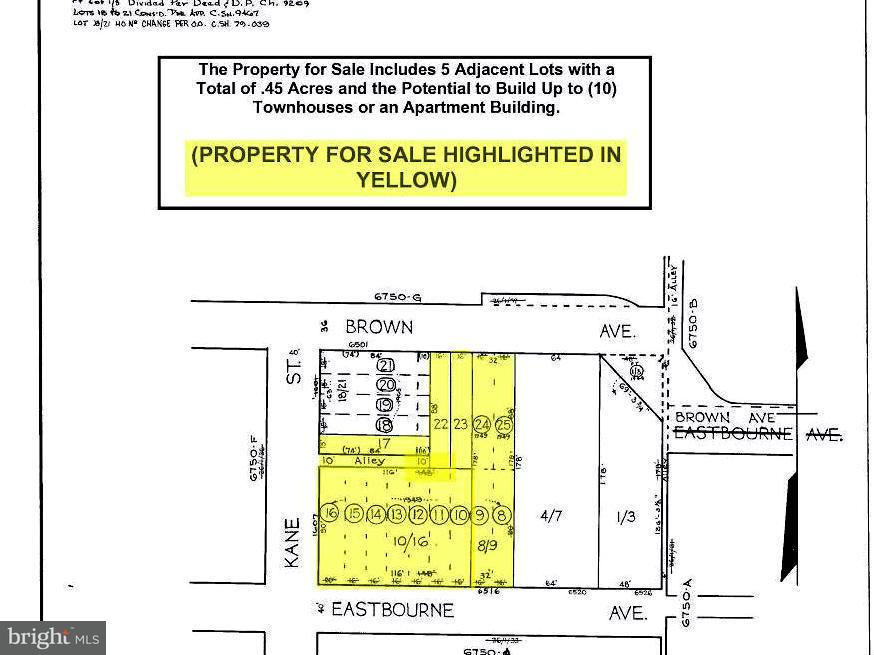 Land for Sale at 6516 Eastbourne Ave Baltimore, Maryland 21224 United States