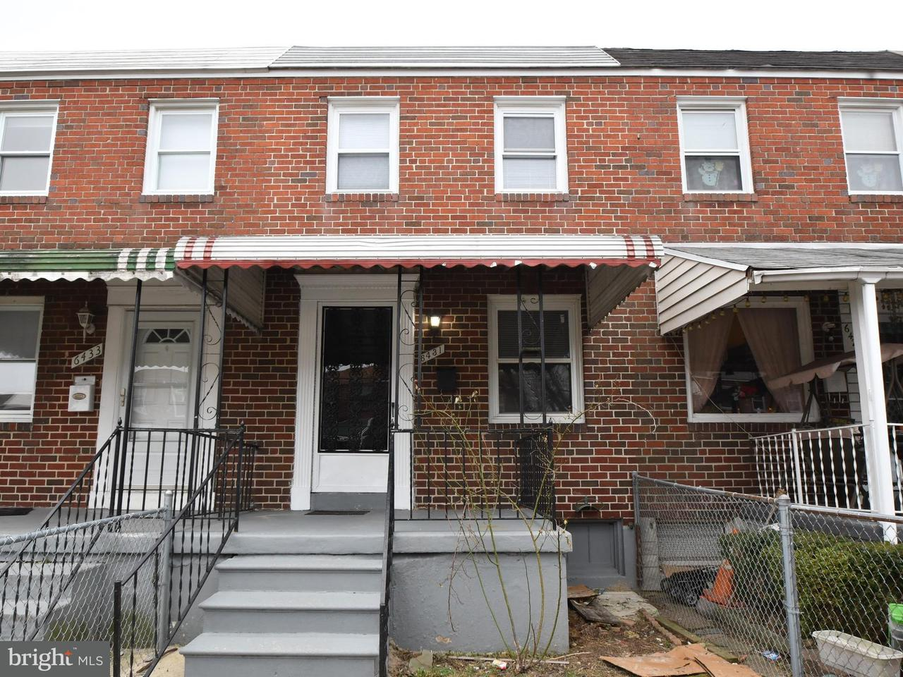 Single Family for Sale at 6431 Hartwait St Baltimore, Maryland 21224 United States
