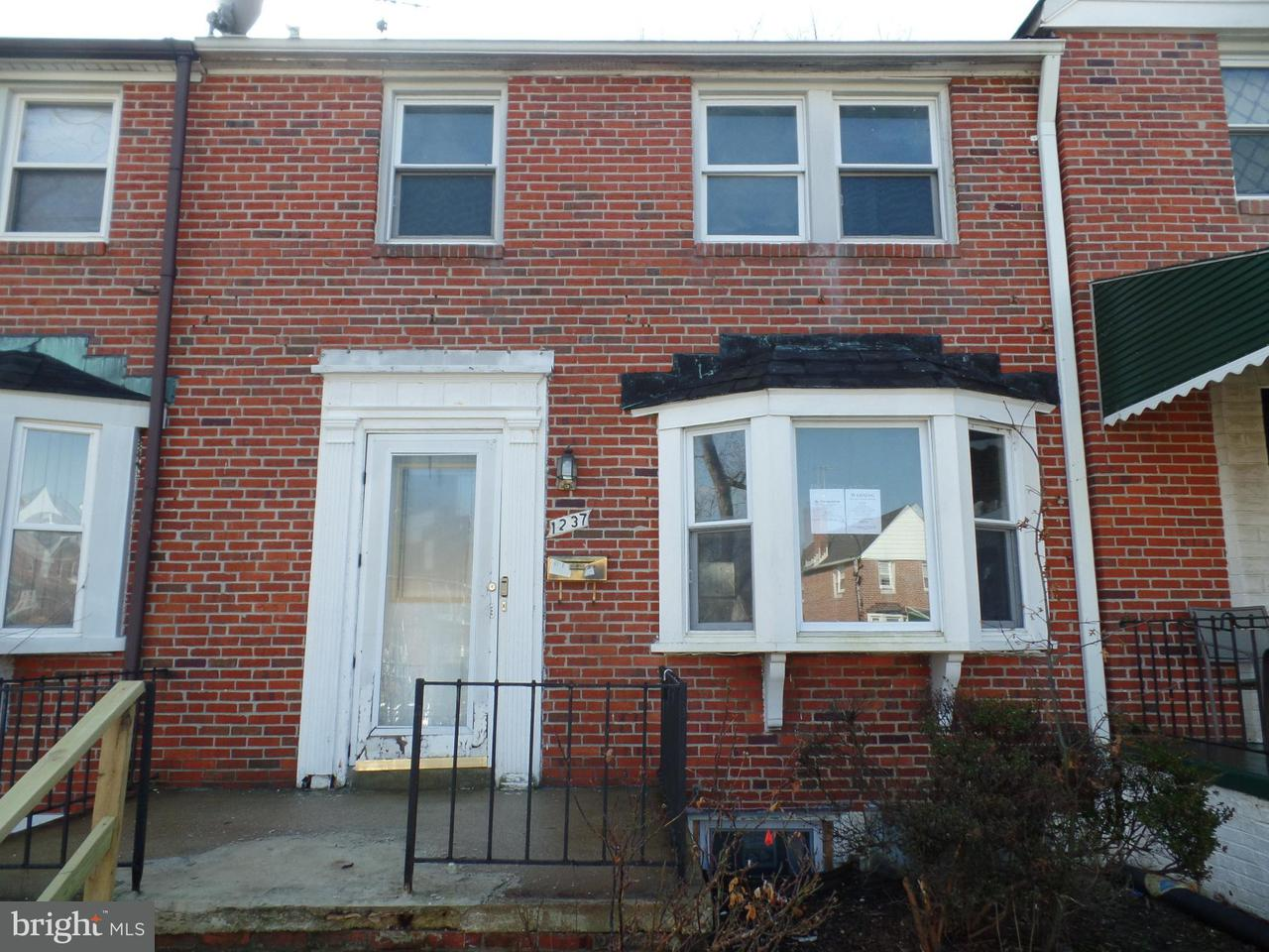 Single Family for Sale at 1237 Winston Ave Baltimore, Maryland 21239 United States