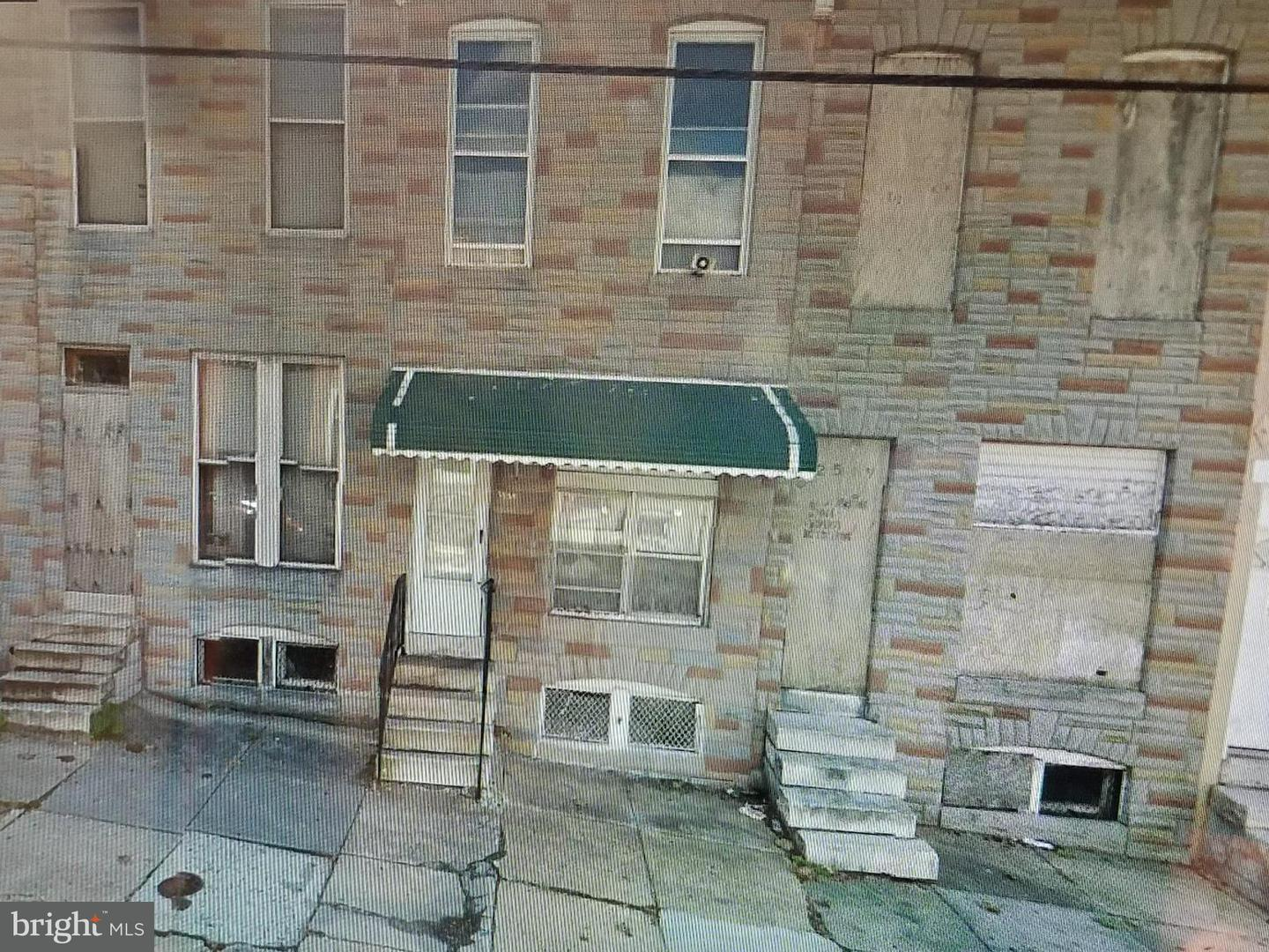 Single Family for Sale at 2521 East Hoffman E Baltimore, Maryland 21213 United States
