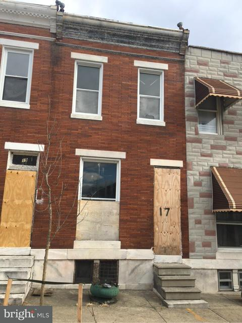 Single Family for Sale at 17 Catherine St Baltimore, Maryland 21223 United States
