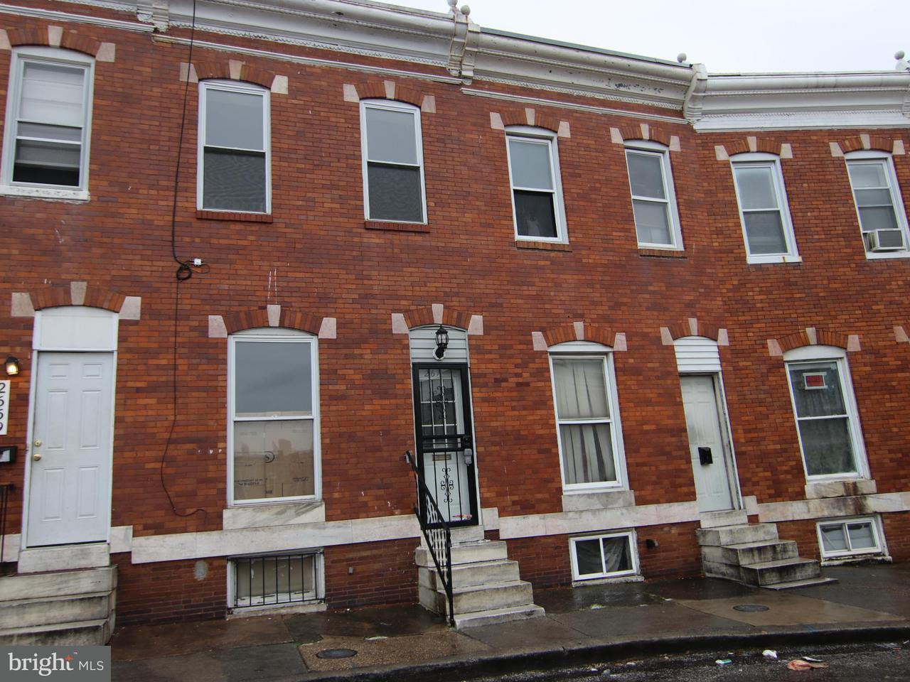 Single Family for Sale at 2671 Saint Benedict St Baltimore, Maryland 21223 United States