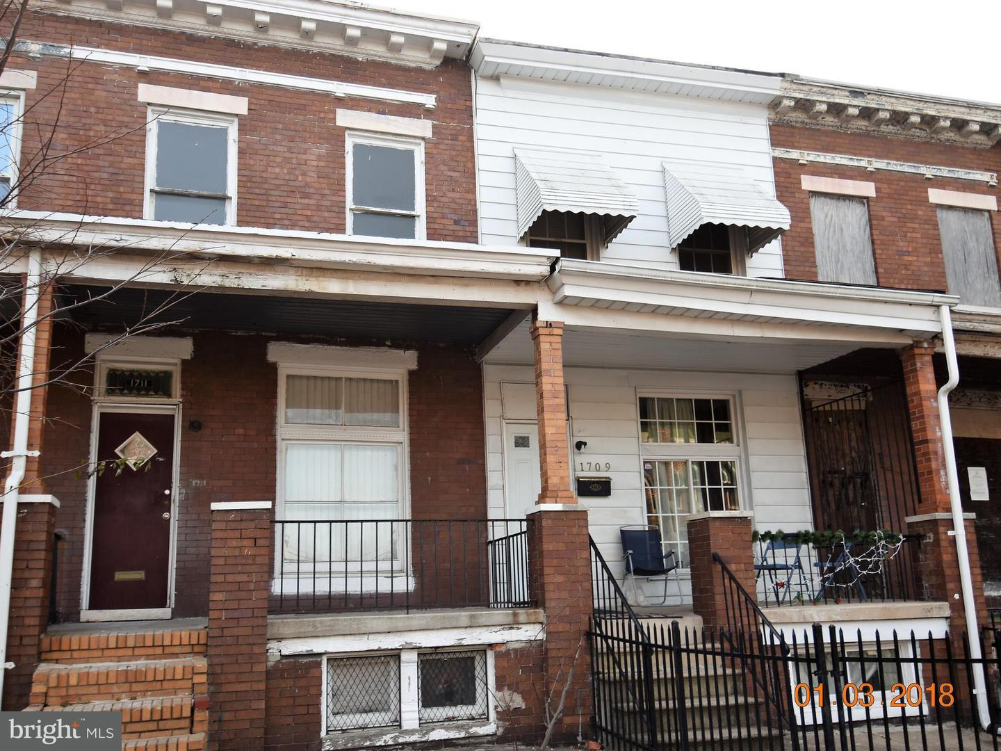 Single Family for Sale at 1711 Montpelier St Baltimore, Maryland 21218 United States
