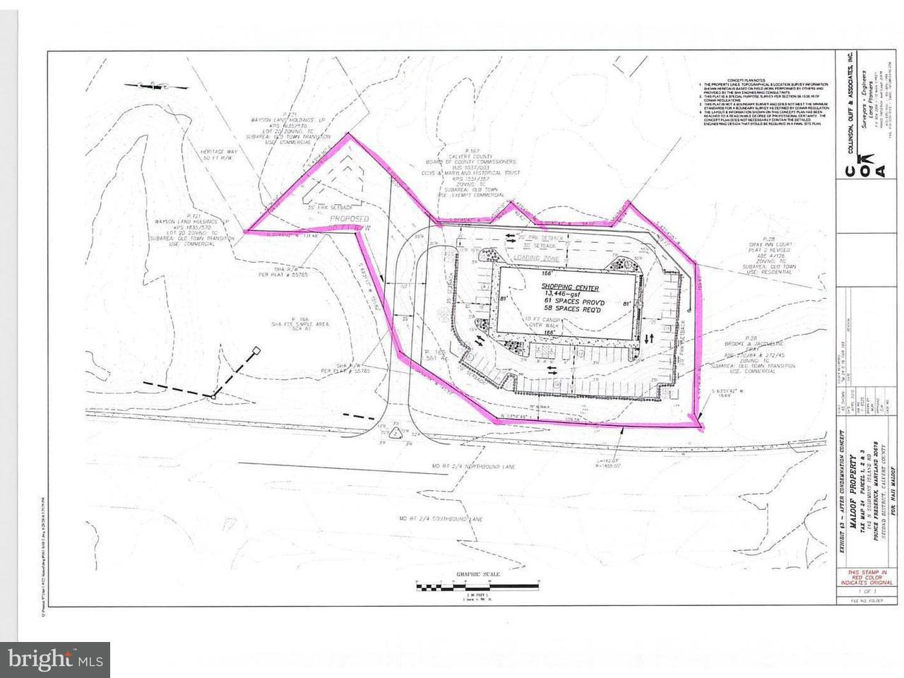 土地,用地 为 销售 在 145 Solomons Island Road 145 Solomons Island Road Prince Frederick, 马里兰州 20678 美国