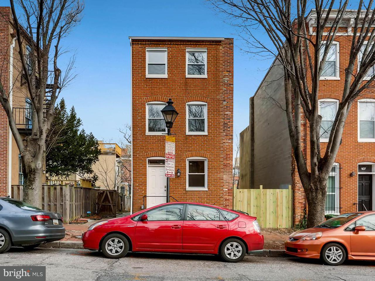 Single Family for Sale at 103 Scott St Baltimore, Maryland 21201 United States