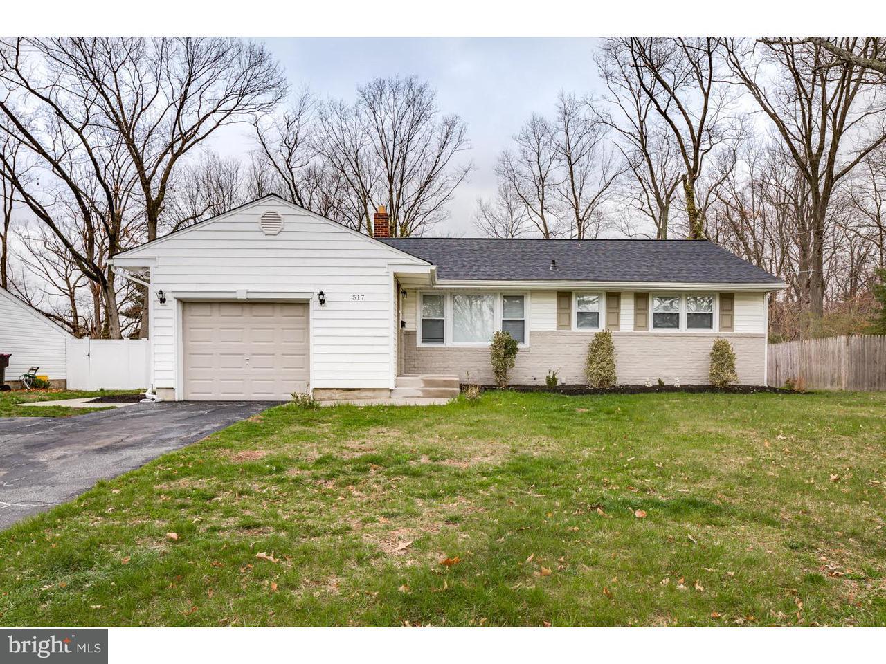 Maison unifamiliale pour l Vente à 517 PASADENA Drive Magnolia, New Jersey 08049 États-Unis
