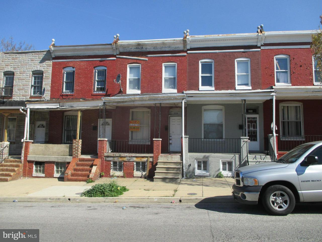 Single Family for Sale at 2156 Hollins St Baltimore, Maryland 21223 United States