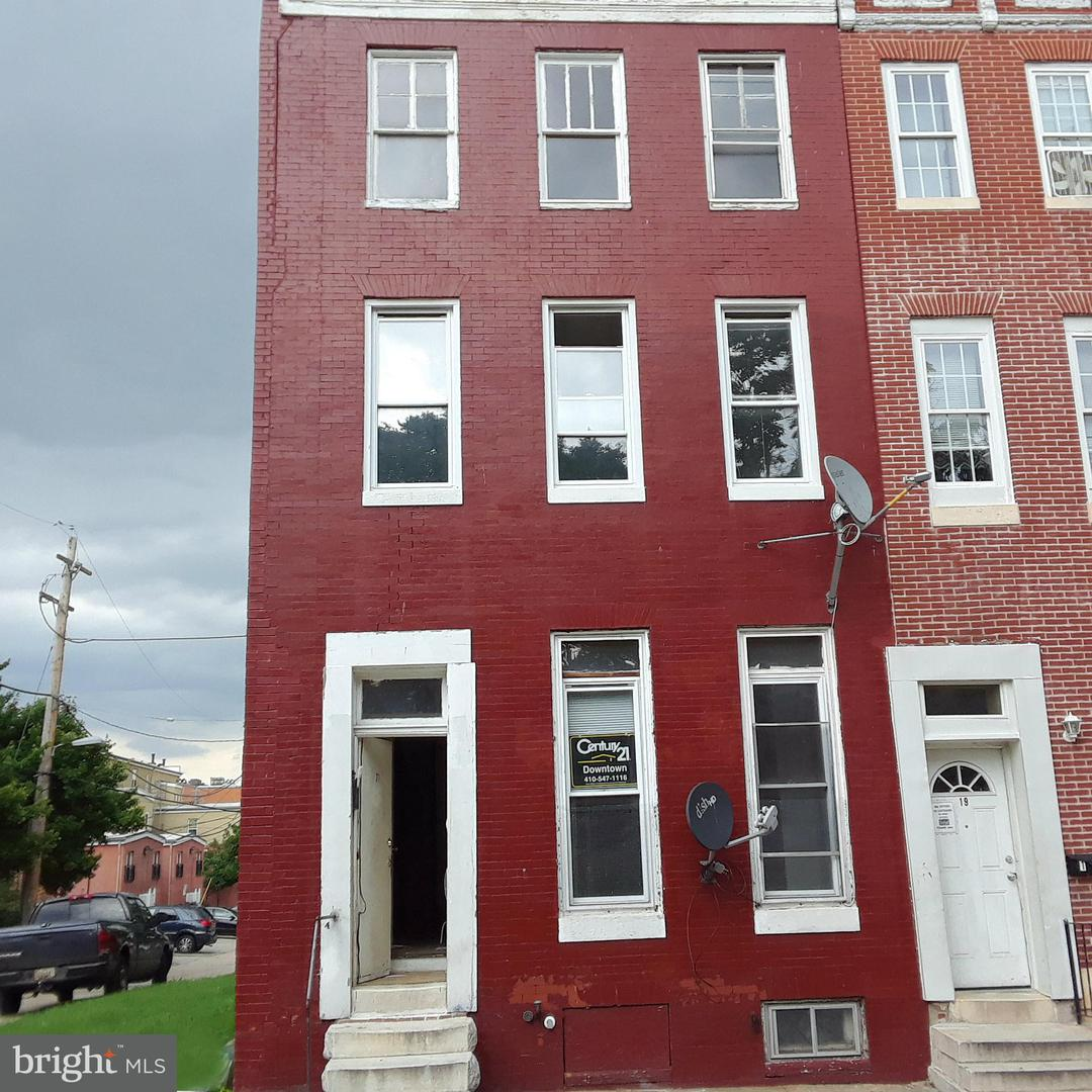Single Family for Sale at 21 Gilmor St Baltimore, Maryland 21223 United States