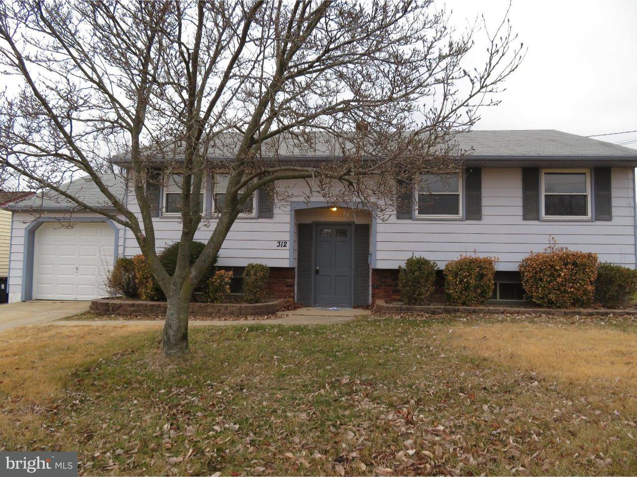 Частный односемейный дом для того Аренда на 312 ANTHONY Drive Bellmawr, Нью-Джерси 08031 Соединенные Штаты