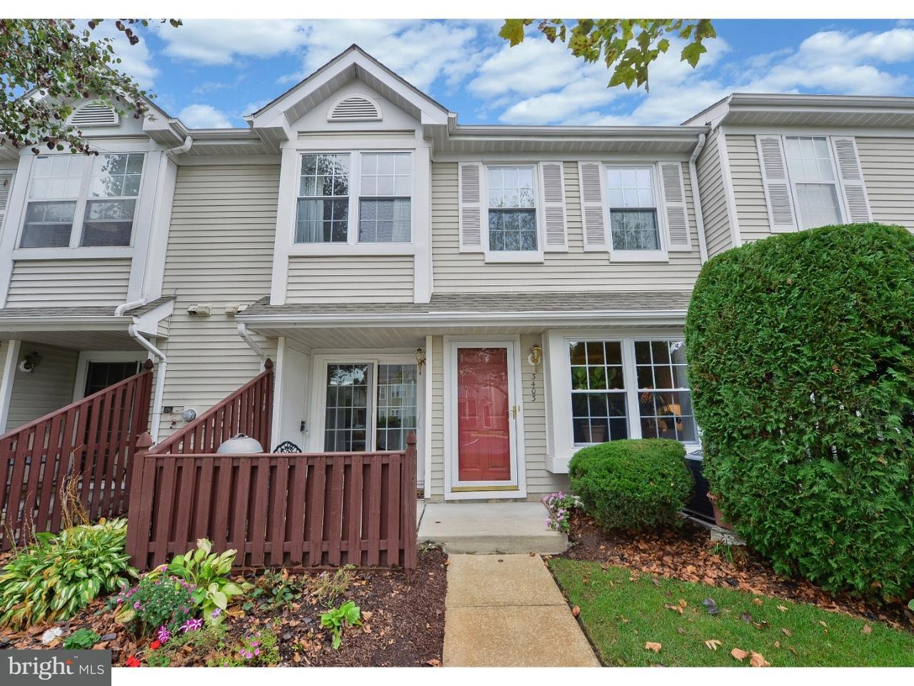 Townhouse for Sale at 3403 LIMESTONE WAY Mount Laurel, New Jersey 08054 United States