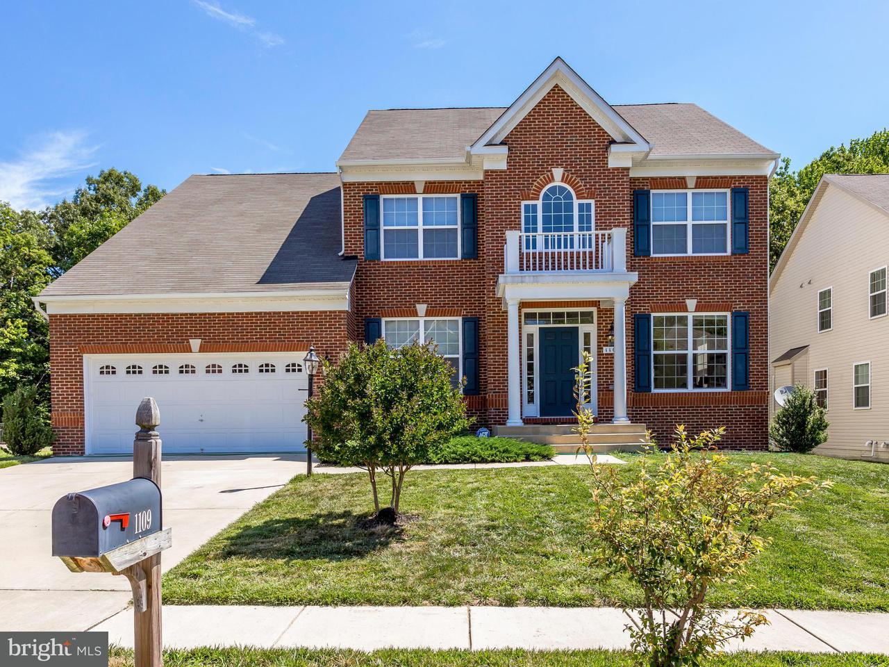 Частный односемейный дом для того Продажа на 1109 Caskadilla Lane 1109 Caskadilla Lane Accokeek, Мэриленд 20607 Соединенные Штаты