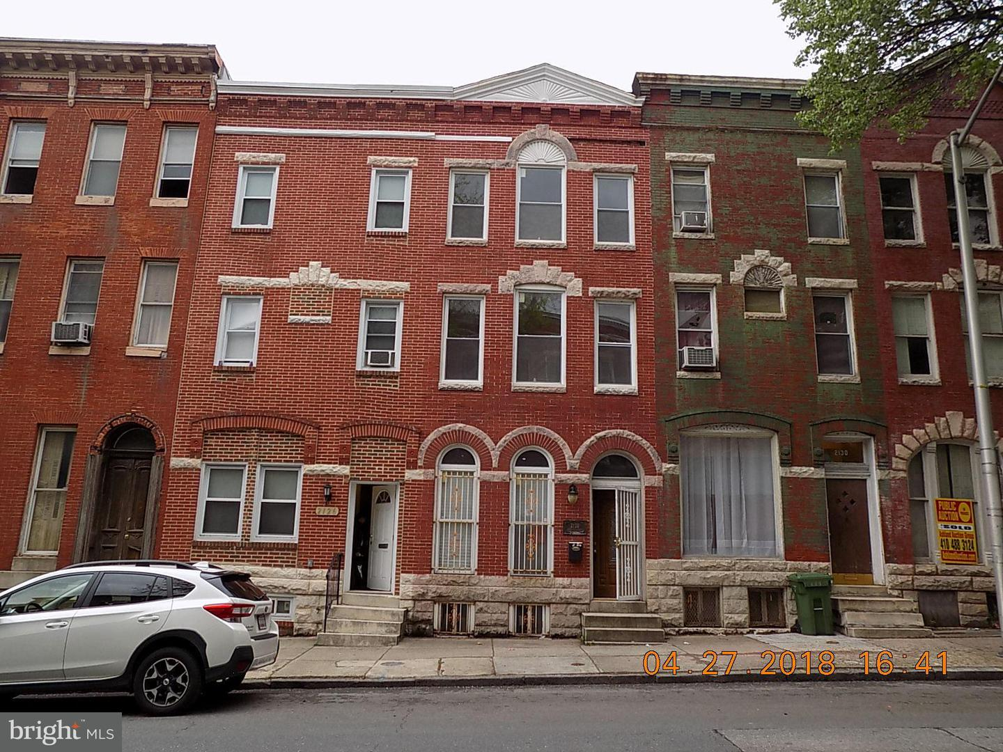 Single Family for Sale at 2128 Druid Hill Ave Baltimore, Maryland 21217 United States