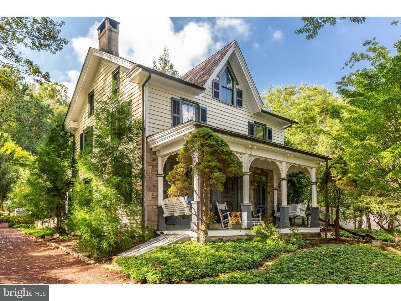Maison unifamiliale pour l Vente à 3749 RIVER Road Lumberville, Pennsylvanie 18933 États-UnisDans/Autour: Solebury Township