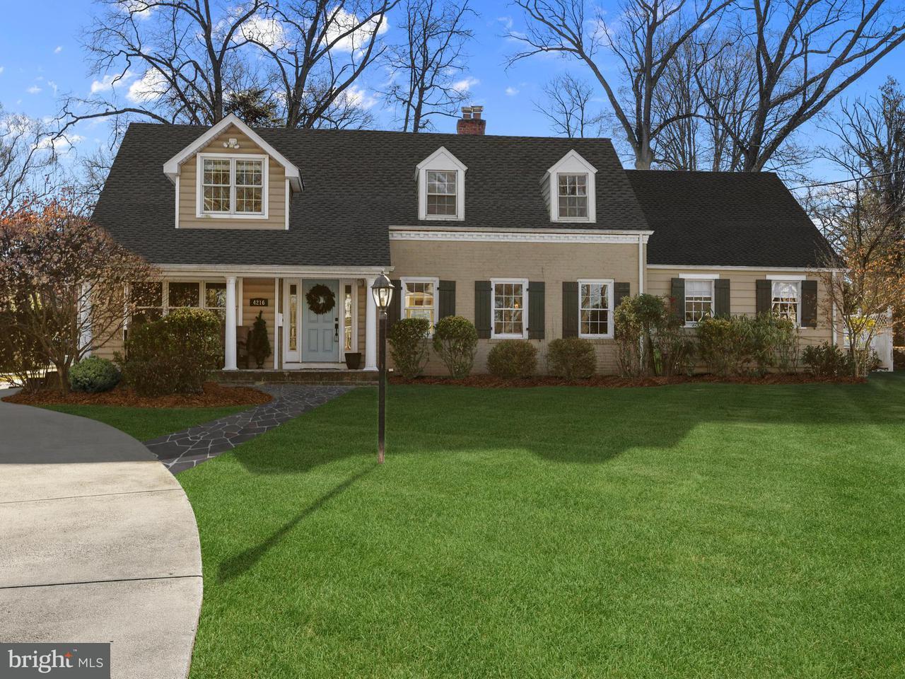 独户住宅 为 销售 在 4216 Everett Street 4216 Everett Street 肯辛顿, 马里兰州 20895 美国