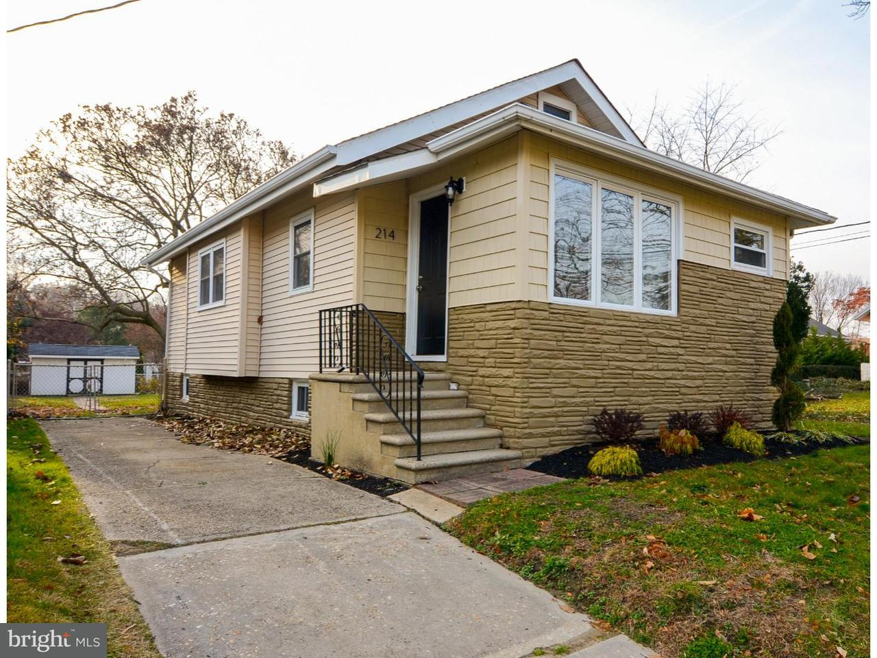 Частный односемейный дом для того Продажа на 214 HAMPSHIRE Avenue Audubon, Нью-Джерси 08106 Соединенные Штаты