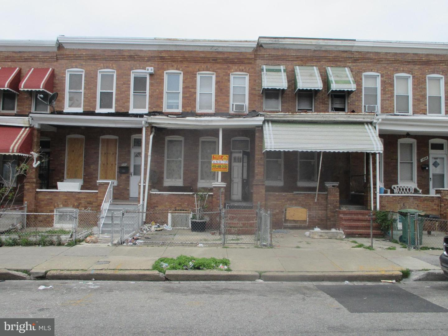 Photo of home for sale at 1632 Milton Avenue, Baltimore MD