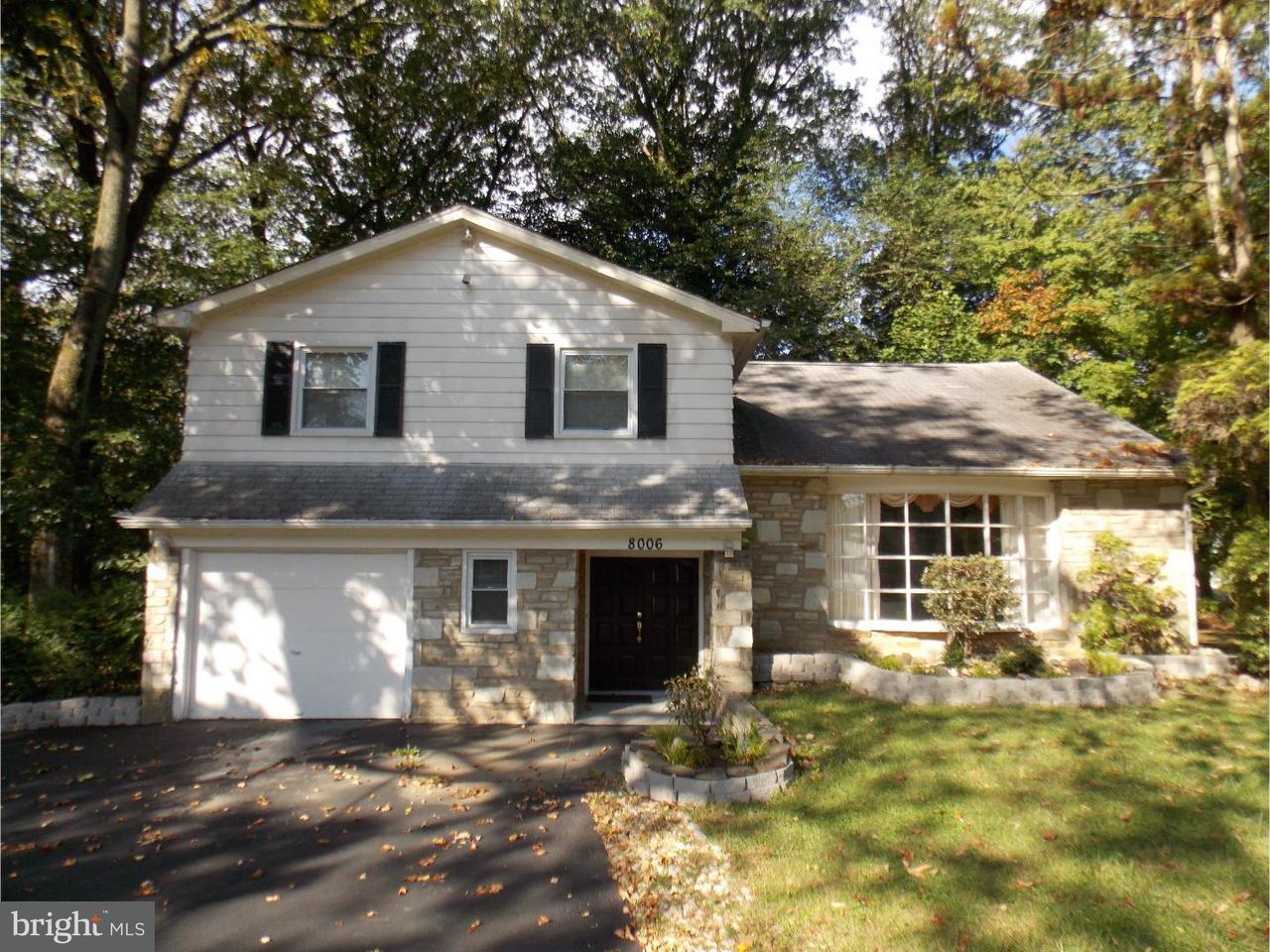 Частный односемейный дом для того Продажа на 8006 ELLEN Lane Cheltenham, Пенсильвания 19012 Соединенные Штаты