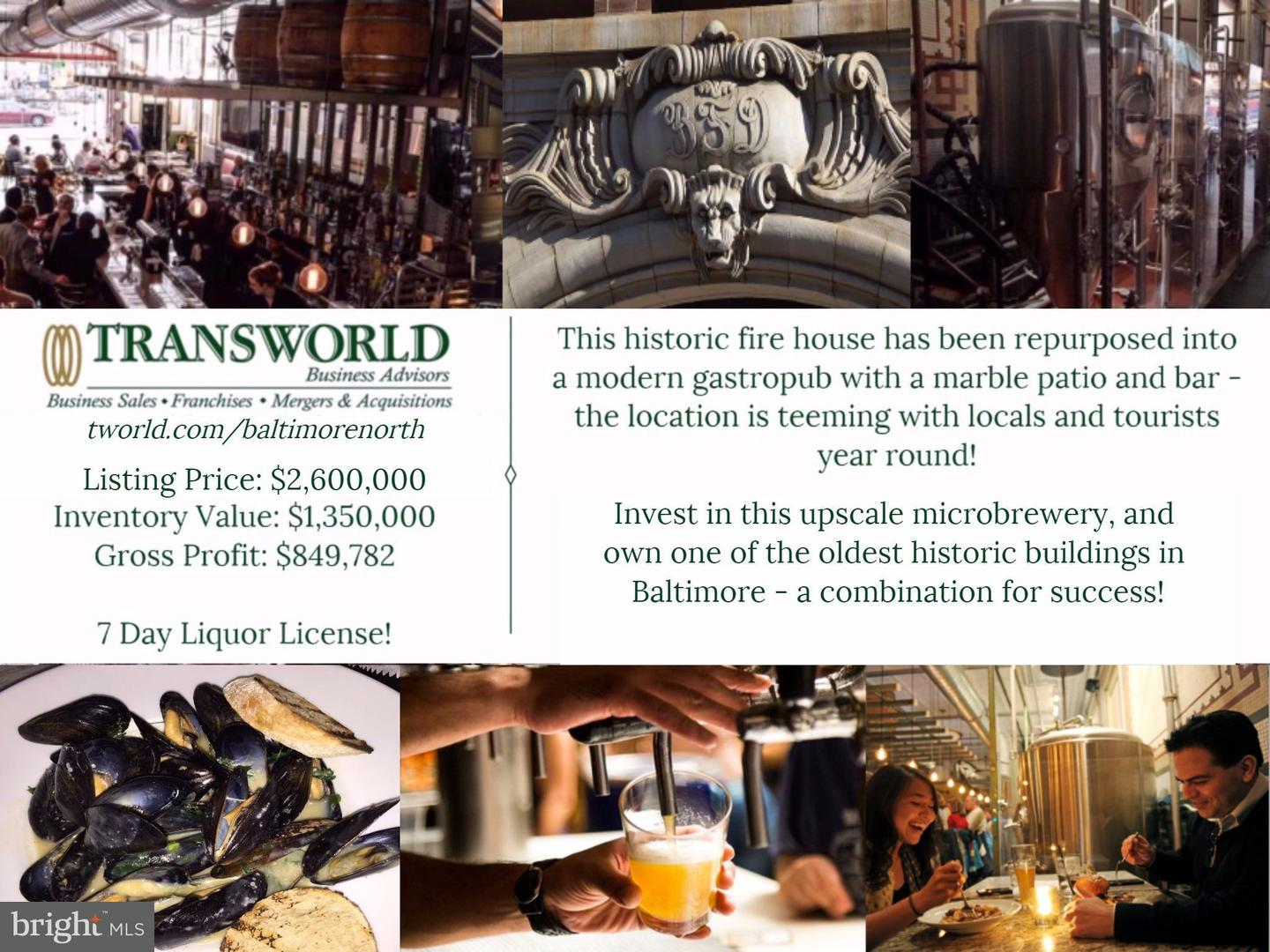 Commercial for Sale at 831 Calvert St Baltimore, Maryland 21202 United States