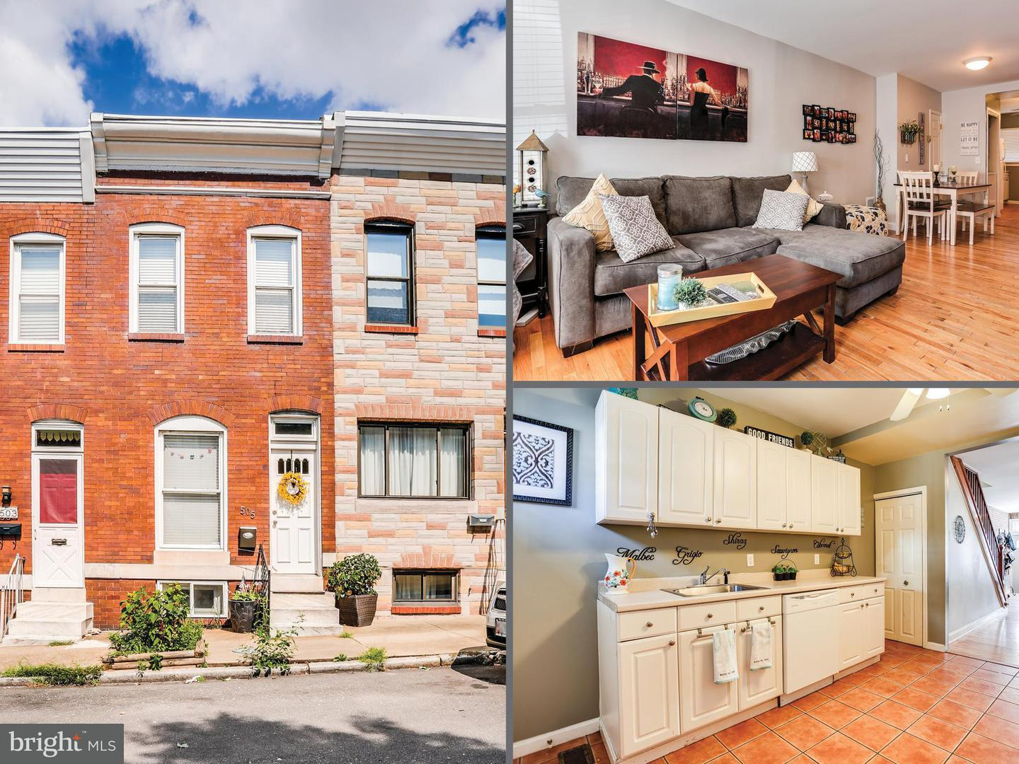Photo of home for sale at 505 Curley Street S, Baltimore MD