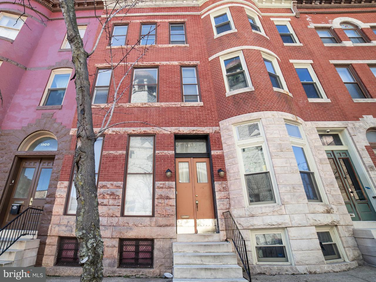 Single Family for Sale at 1902 Madison Ave Baltimore, Maryland 21217 United States